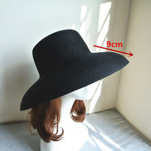 65e2b01e4a8d1 01811-axi British summer chimney Modelling French style Hepburn elegant  lady straw leisure cap women bucket hat wholesale