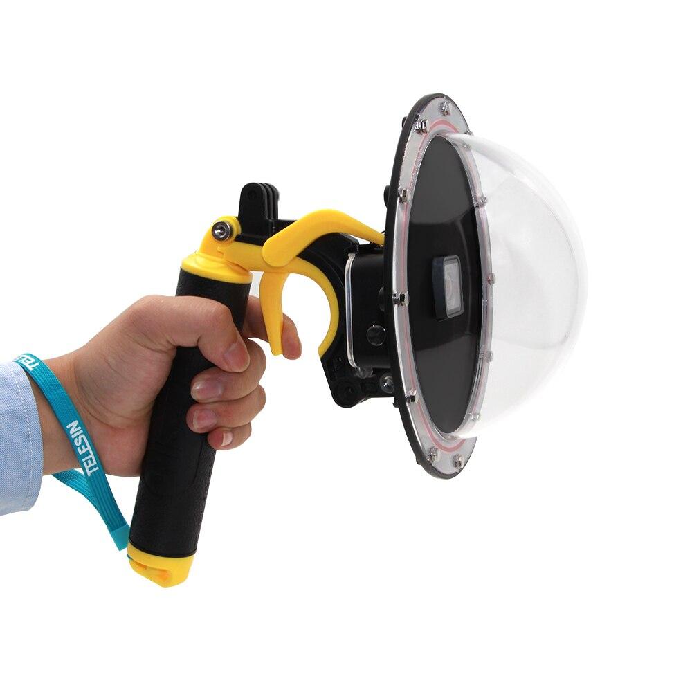 Pour GoPro Dôme Port Plongée Étanche Cas De Logement + Flottant Main Grip Mont pour GoPro Hero 6 Hero 5 Caméra Noir accessoires