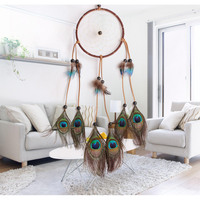 fashion hot peacock dreamcatcher wind chimes indian style feather pendant dream catcher gift ideas top fashion