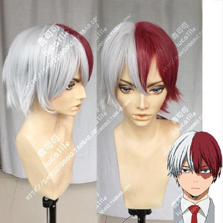 My Hero Academia Boku No Hiro Akademia Shoto Todoroki Cosplay Wigs