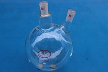 3L (3000ML) 2-neck (two-neck) Round bottom boliing flask ,24/40 , heavy wall (Borosilicate glass 3.3)