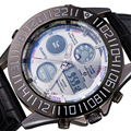 ASJ Водонепроницаемый Дизайн Хронограф Часы Мужчин Кожаный Ремешок Аналого-Цифровой Наручные Часы Vintage Спортивные Часы Relogio Masculino