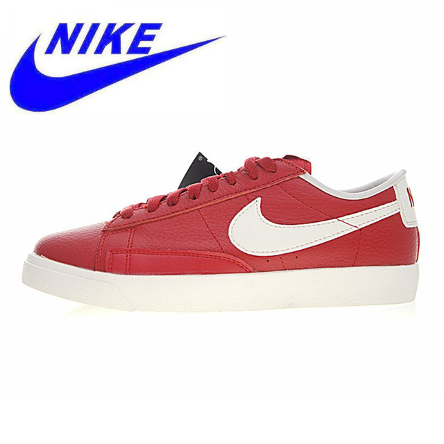 c1c308fbd9 US $63.6 60% OFF|Original Nike Blazer Low Premium Men's and Women's Walking  Shoes, Red,Wear resistant Lightweight Breathable 454471 601-in Walking ...