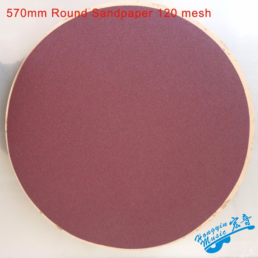 Red Round Sandpaper Disk Sand Sheets Grit 120 Hook Loop Sanding Disc For <font><b>Sander</b></font> Grits Guitar Handmade <font><b>Side</b></font> Plate Radius Polished image
