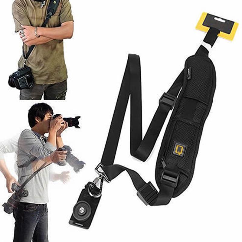 1 Pcs Q Letter Camera Single Shoulder Belt Sling For SLR DSLR Cameras Canon Sony Nikon