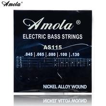Amola AS115 Bass Guitar 5 strings 045-130 bass string Electric Medium +5pcs guitar picks