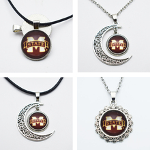 Buy mississippi state necklace and get free shipping on aliexpress 10pcs ncaa mississippi state sports team charm pendant necklace for 25mm16mm time gem glass publicscrutiny Gallery