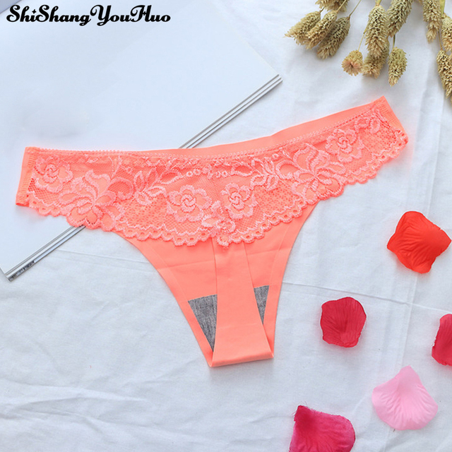 62d6e52907524 Sexy G String Thongs Ice Silk Women Panties Briefs Lace Seamless  Transparent Underwear Ropa Bragas Tangas