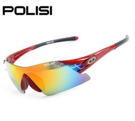 POLISI  Cycling Sunglasses Polarized Bicycle Eyewear 5 Lens Outdoor Sport Glasses UV400