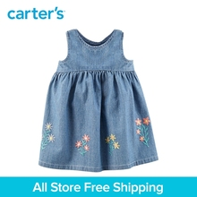 Carter's 1-piece baby children kids clothing Girl Spring Summer Embroidered Chambray Dress 127H189