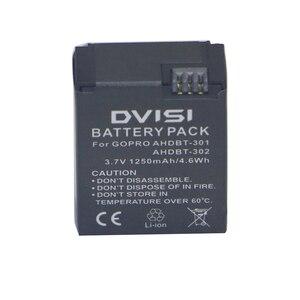 Image 3 - 1250mAh AHDBT 301 AHDBT301 AHDBT301 AHDBT302 Rechargeable Battery for GoPro HERO3+ HERO3 and GoPro AHDBT 201 AHDBT 301 AHDBT 302