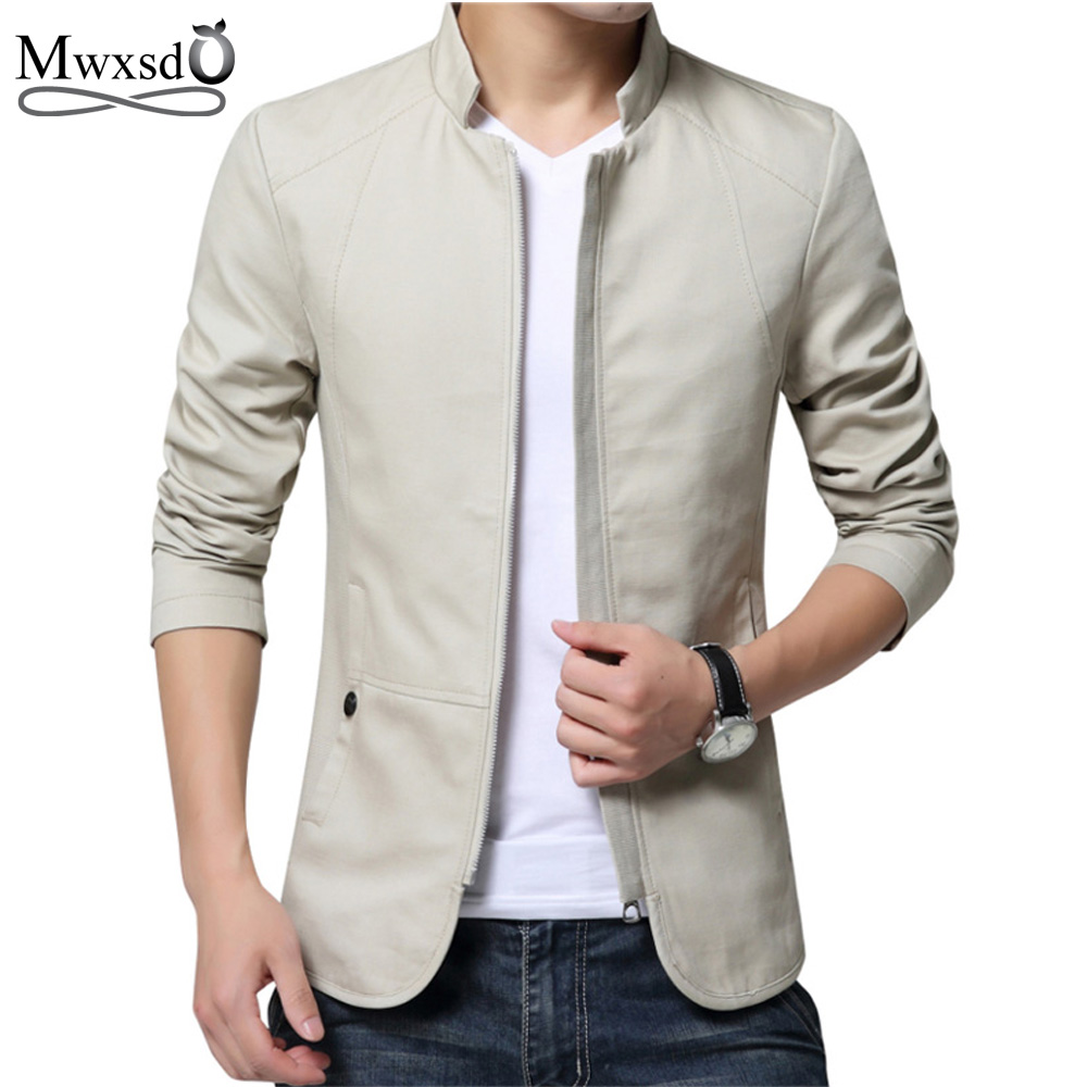 2018 brand men spring autumn casual jacket mens slim fit