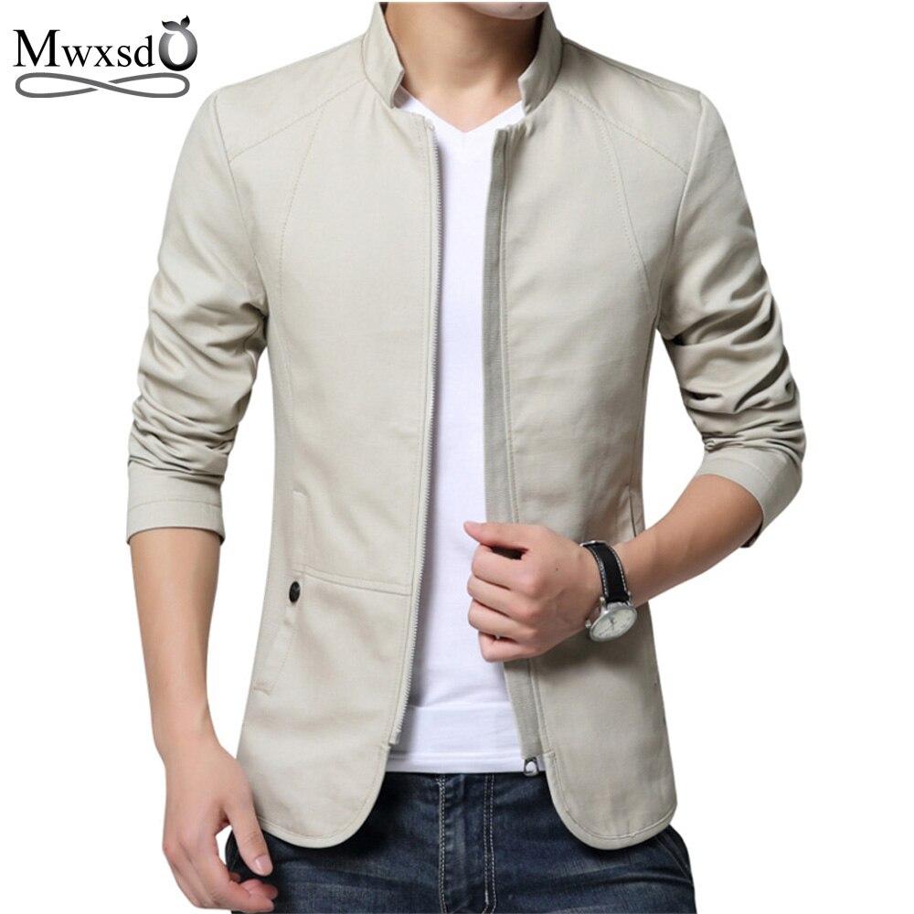 2019 dos homens da marca primavera outono jaqueta casual masculino fino ajuste jaqueta de algodão e casaco masculino stander colarinho jaqueta veste homme