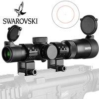 Swarovskl 1 6X24 Полный размер красный Mil Dot оптические прицелы стекло гравированное сетка стрельба прицел коллиматор