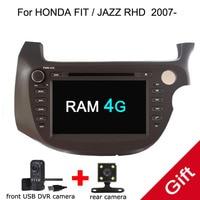 Android 8,0 PX5 Восьмиядерный для HONDA FIT/JAZZ Right driving 2007 автомобильный DVD мультимедийный плеер gps навигация Авторадио dvd плеер