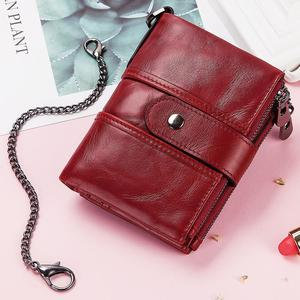 Image 5 - Wallet Wallets Women 2019 New Fashion Women 100% Genuine Leather lady Red Walets For Organizer Coin Purse Clutch Short Small HOT