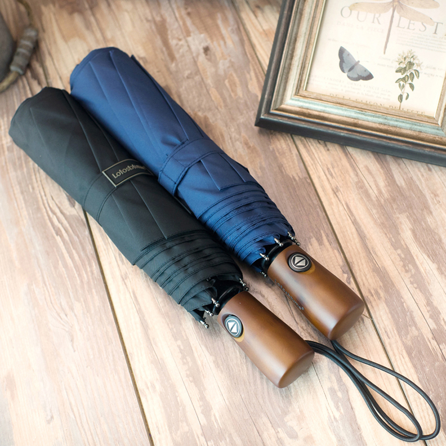 122 cm Große Super Winddicht Holzgriff Regenschirm 3 Falten - Haushaltswaren - Foto 2