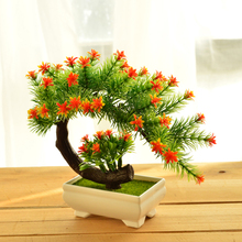 Artificial Plants Vase Set Simulation flower Small bonsai Mini potted Wedding Potted Furnishing DIY home gardening decor