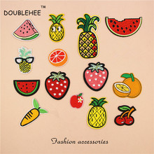 DOUBLEHEE Competitive Products Fruit Patch Embroidered Iron On Patches For Clothing  Motif Embroidery DIY T-shirt Bags