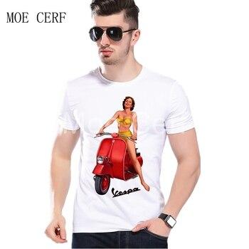 Camiseta clásica de los 80, camiseta Vintage con estampado de Vespa para moto, gran venta 2020 de Italia Scooter de manga corta, ropa para hombre, L2-82