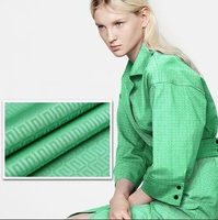 2016 green bright jacquard simple cloth fashion fabric imported from Italy