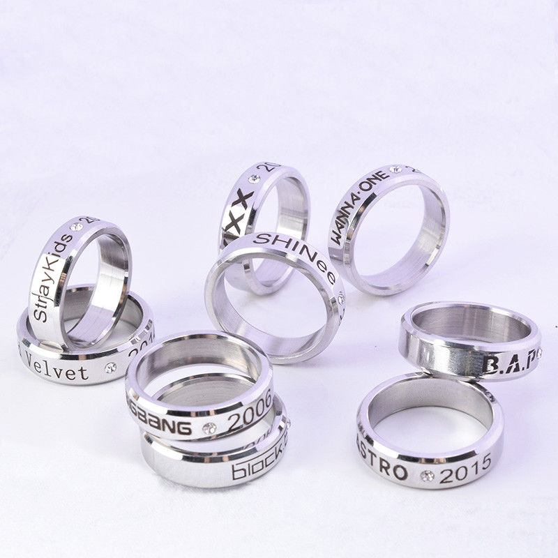 KPOP Wanna One Ring BAP SHINee Block.b Vixx Astro Straykids Finger Rings <font><b>Bigbang</b></font> image