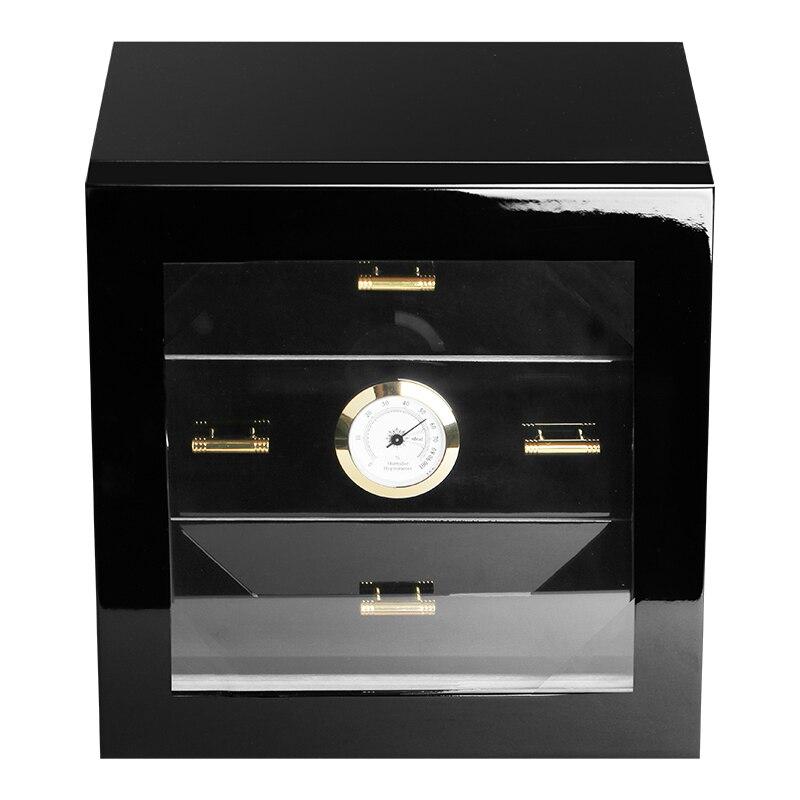 COHIBA Nero cigar sacchetto di Presidente di piccolo tre-tier piano dipinto lubinski di Cedro humidor cigar box contenitori tavolo di Umidità