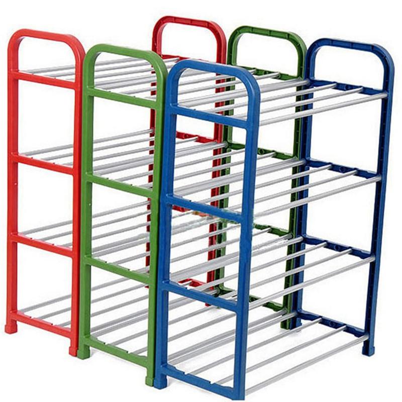 Plastica Stand 4 Scarpe Rack Shelf Nuovo Tier Organizer di