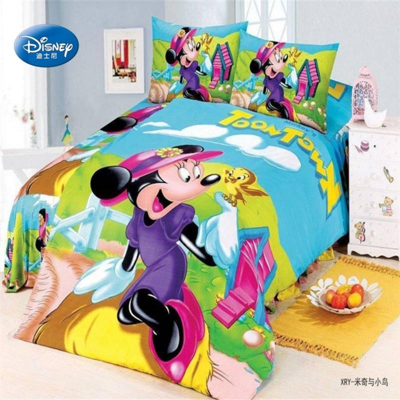 Minnie Mouse Mignon Simple Parure De Lit Réversible Enfants Literie Filles Mickey