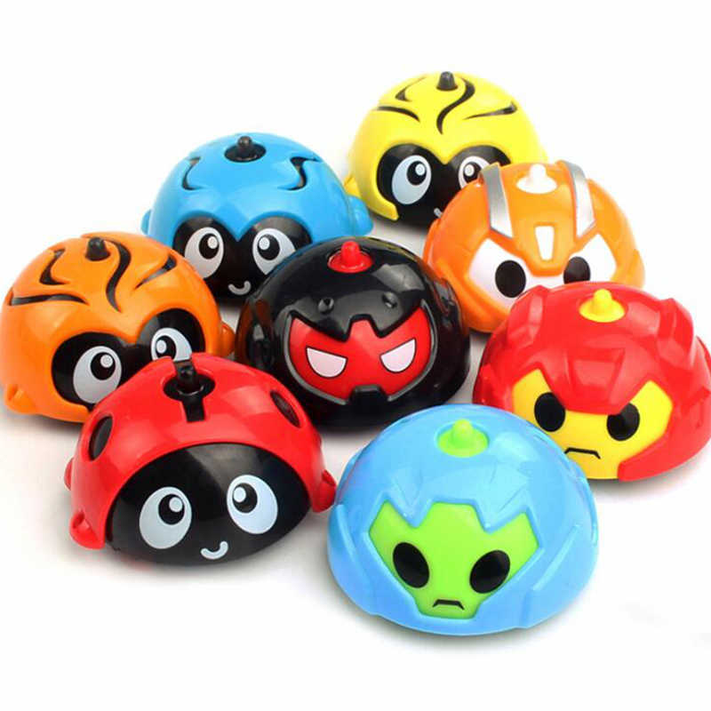 Mini Animal Shaped Inertia beyblade burst Engineering Vehicle Gliding Toy Stunt Gyro Toys For Children Single Pack Random Color