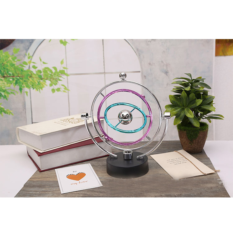 Kinetic Orbital Desk Decoration Celestial Newton Rotating Electromagnetic Pendulum Physical Model Magnetic Swing Decoration resonance demonstrator of the pendulum physical experimental equipment single pendulum ball