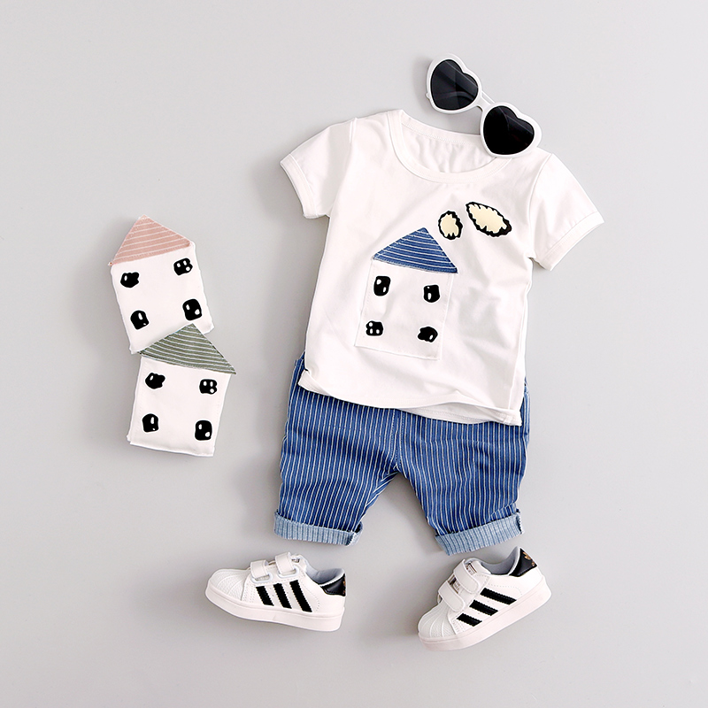 Boys Clothing Summer New for 1 2 3 4 year old Short Sleeve Children sets fashion style high quality A234 baby boy clothes