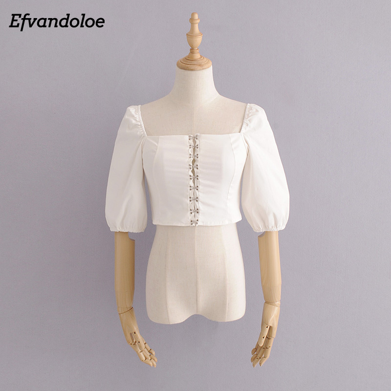 Women White   Blouse   Summer Tops and   Blouses     Shirts   Korean Fashion Clothing blusas mujer