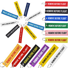 Remove Before Flight 3PCS KeyChain Mercedes Embroidery Porte Clef Motards Pop Key Ring Ornaments label For Motorcycle Fans Gift