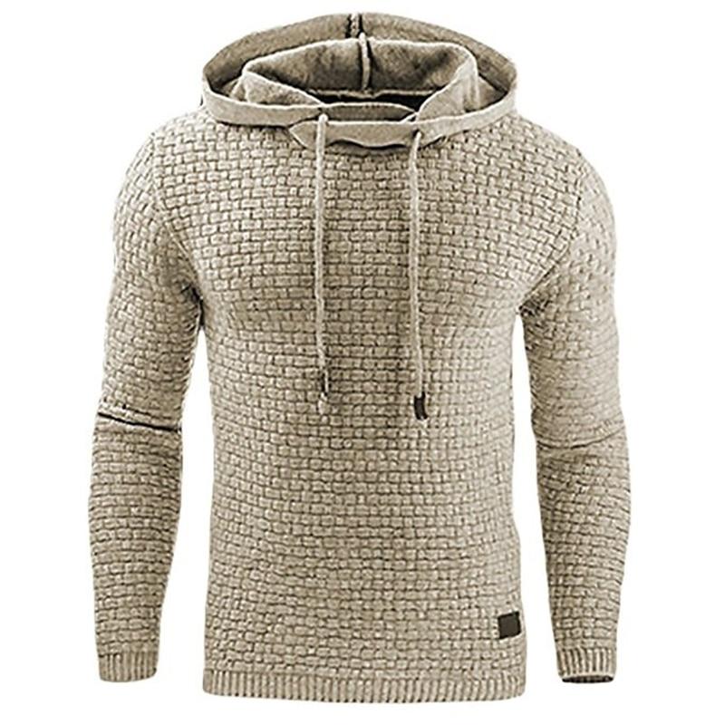 Men 2018 Brand Male Hip Hop Long Sleeve Solid Color Hooded Sweatshirt Mens Hoodie Tracksuit