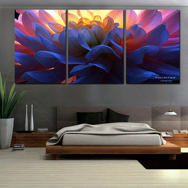 2017 Paintings Print Canvas Wall Art Orchids Decoration Oil Painting ...