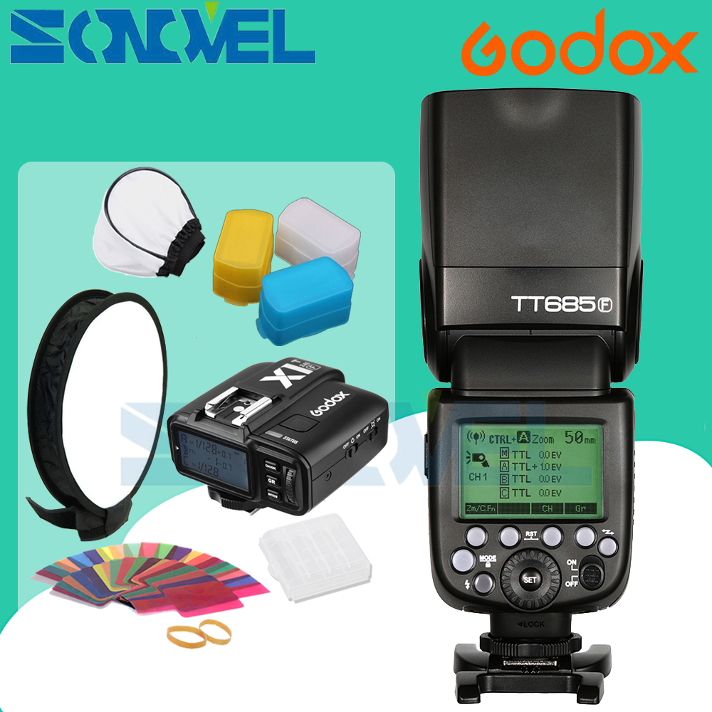 In Stock Godox TT685F 2.4G HSS TTL GN60 Flash Speedlite+ X1T-F Trigger Transmitter Kit for Fuji X-Pro2/X-T20/X-T1/X-T2 fountain pen hero 892 pompilius iridic senior gold collection shell composite old style free shipping