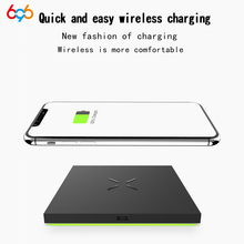 696 X6 Wireless Charger Ultra-thin Portable Lightweight Mobile Phone Charger for Samsung S  Note Series etc.For IPhone 8 etc.