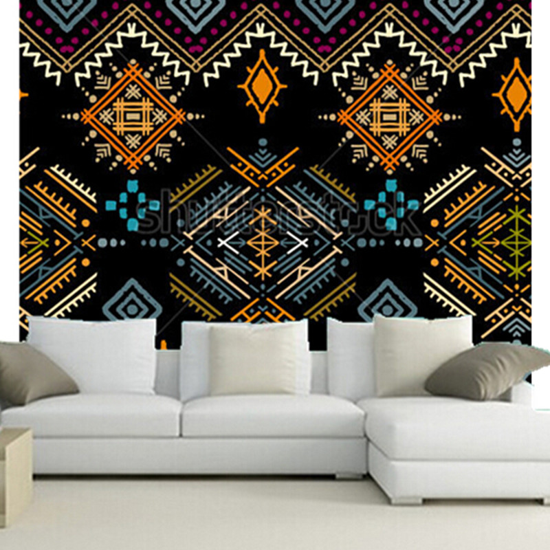 The custom 3D murals, Ethnic boho ornament. Tribal art print, repeatable background,living room sofa TV wall bedroom wall paper the custom 3d murals the new york times center building street black and white living room sofa tv wall bedroom wall paper