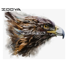 Zooya 5D DIY Diamond Eagle Head Cat Minyak Hewan Diamond Lukisan Cross Stitch Square Bor Mosaic Dekorasi BK917(China)