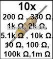Резистор Комплект Удобный Сопротивления Портативный 10values * 10 шт. = 100 шт. для Arduino UNO R3 Электронные Компоненты Пакета