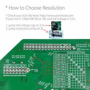 Image 3 - Programa gratuito T HD8503.03C Universal TV LCD Placa de controlador de TV/AV/VGA/HDMI/USB + 7Key + botón 1ch 6bit 40 pines cable lvds 8503