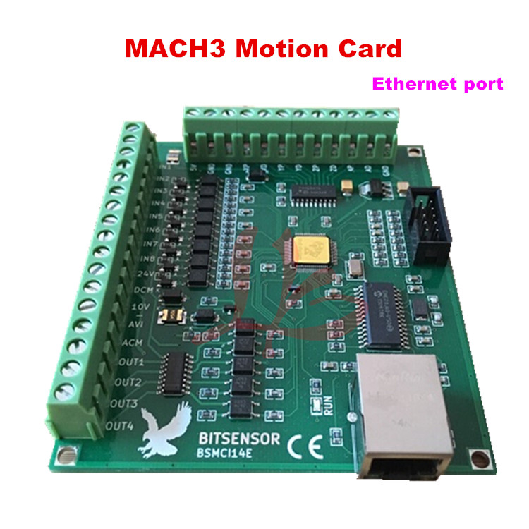 200KHz mach3 Controller card breakout board for CNC Engraving 4axis Ethernet port mach3 usb motion controller card breakout board for cnc engraving 4 axis 100khz