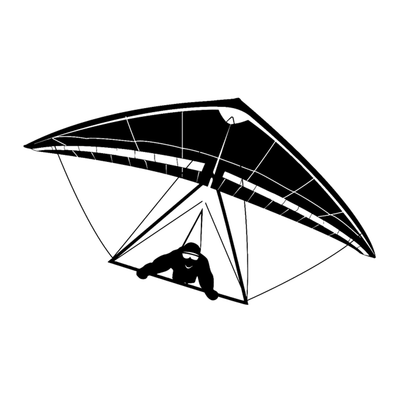 Spirited 16.9cm*9.9cm Interesting Extreme Hang Gliding Glider Sports Silhouette Vinyl Car Stickers Black/silver Decoration S9-1193 Various Styles Exterior Accessories