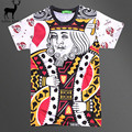 Aelfric Eden Raisevern Mens Playing Card King Print 3D T-shirt Men Summer Harajuku Hip Hop Poker Printing Funny Tops Tee Shirt
