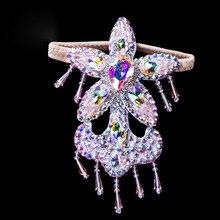 Femmes accessoires de danse du ventre pierres senior anneau de pied strass accessoires de danse du ventre anneau de pied filles accessoires de danse