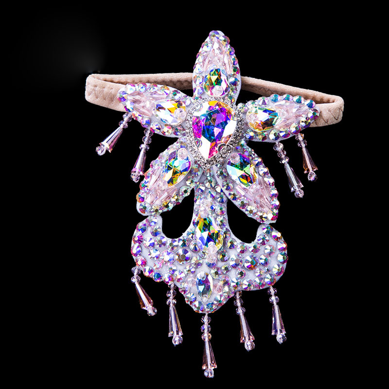 Women Belly Dance Accessories Senior Stones Foot Ring Rhinestones Belly Dance Accessories Foot Ring Girls Dance Props