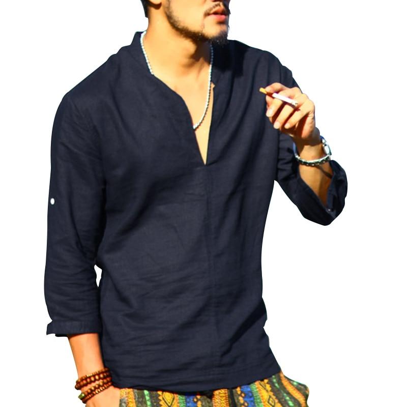 Popular Mandarin Collar Long Sleeve Shirt Buy Cheap