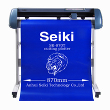 semi-contour cut Vinyl cutting plotter 45W 870mm Usb top quality Model SK-870T cutter plotter with signmaster software