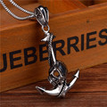 GZ143 non mainstream personality Goth Punk Pirate ship anchor man Titanium Necklace Pendant